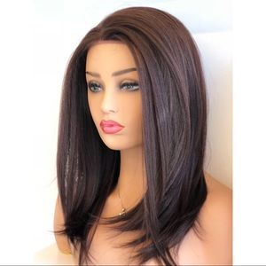 Her Wig Closet Accessories 16 Dark Brown Lace Front Wig